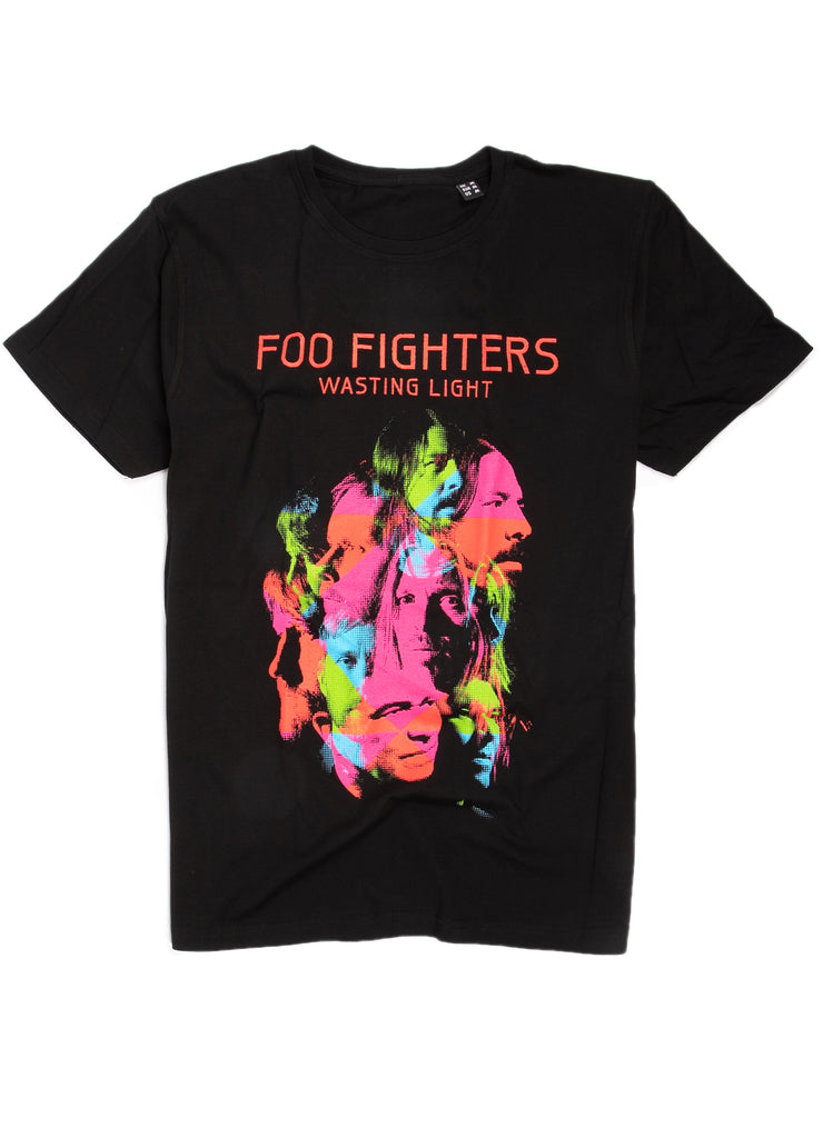 "Foo Fighters ""Wasting Light"" album cover graphic t-shirt."