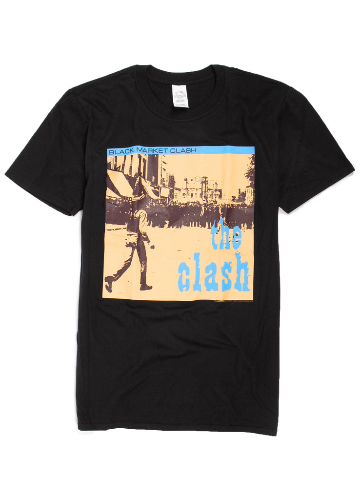 "The Clash ""Black Market Crash"" t-shirt."