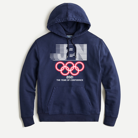 Navy Hoodie 2021 Year of Confidence - Just2Nice