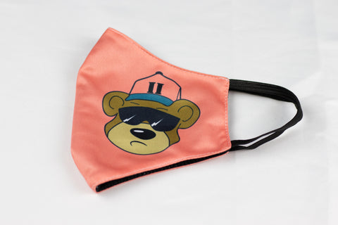 Peach J2N Bear Mask - Just2Nice