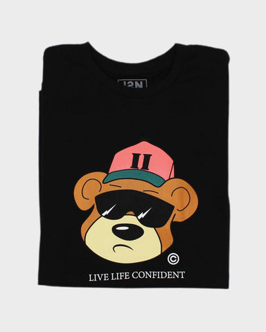 J2N CLASSIC BEAR TEE (BLACK) - Just2Nice