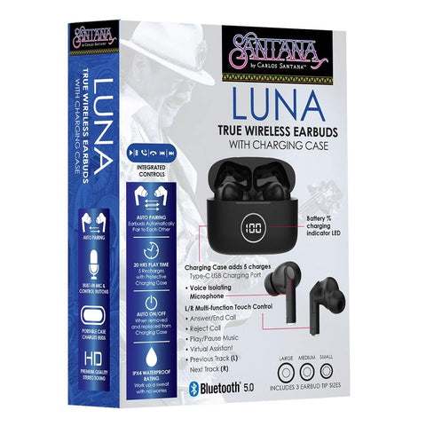 Luna True Wireless Earbuds with Charging Case
