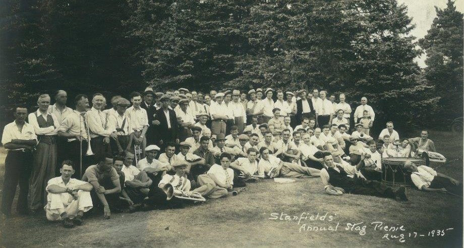 Stanfield's annual stag picnic. August 17, 1935