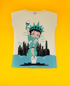 1985 Rare Betty Boop of Liberty Tee