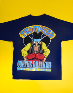 Vintage SUN Two-Fisted Coffee Drinker T-Shirt