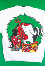 Load image into Gallery viewer, 1994 Looney Tunes Christmas Wreath Sweatshirt