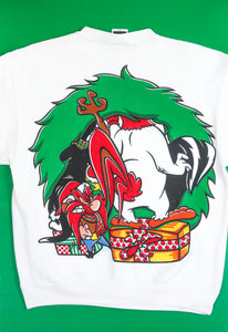 1994 Looney Tunes Christmas Wreath Sweatshirt