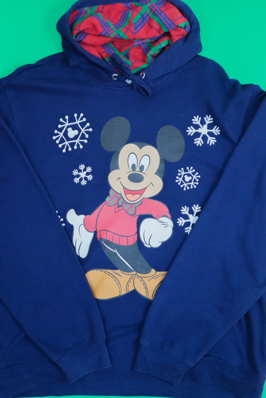 Classic Navy Mickey Mouse Winter Hoodie