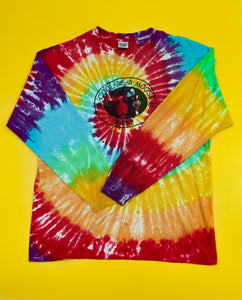 Rainbow Tie-Dyed 'Cool As a Moose' Longsleeve