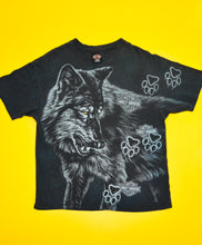 Load image into Gallery viewer, 1994 VTG Harley Davidson Wolf Print Tee