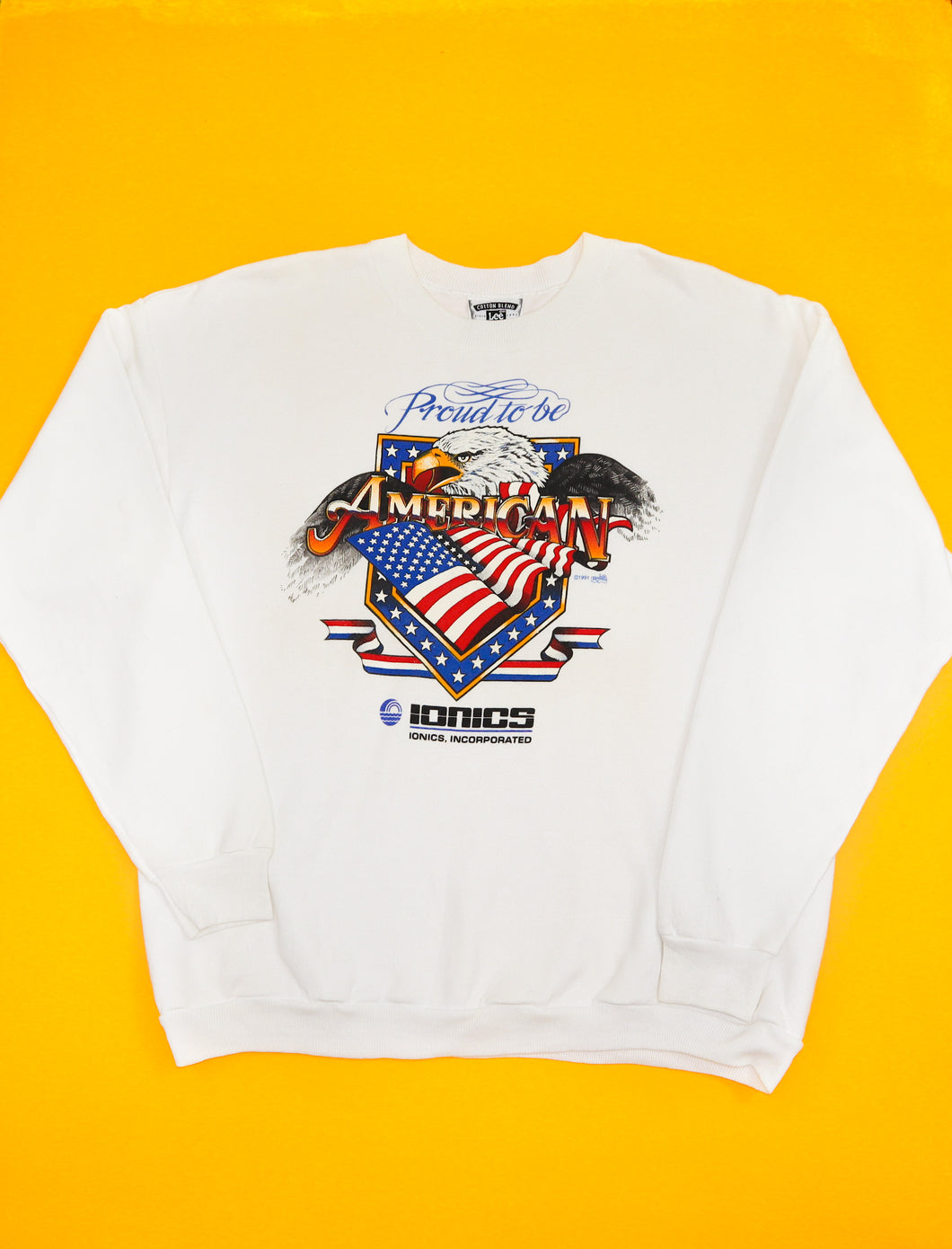 1991 Vintage 'Proud to be an American' Sweatshirt