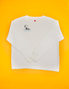 Embroidered 'Soccer Mom' Snoopy Crewneck