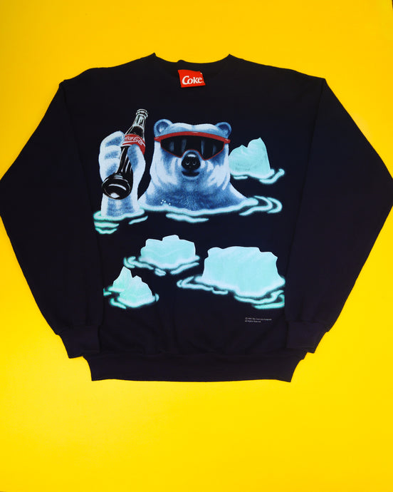 1995 Vintage Chill Coca-Cola Polar Bear Sweatshirt