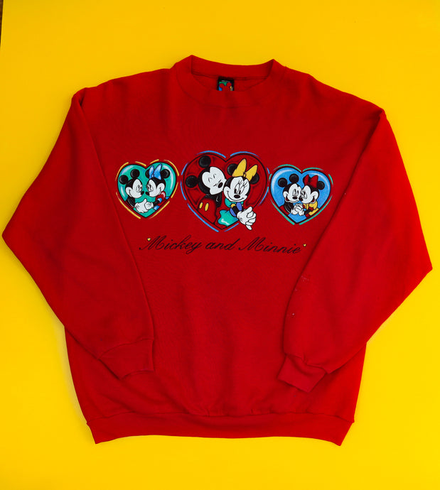 Vintage Disney Jerry Leigh Mickey and Minnie Crewneck