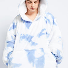 Load image into Gallery viewer, Blue Tie-Dye Oodie