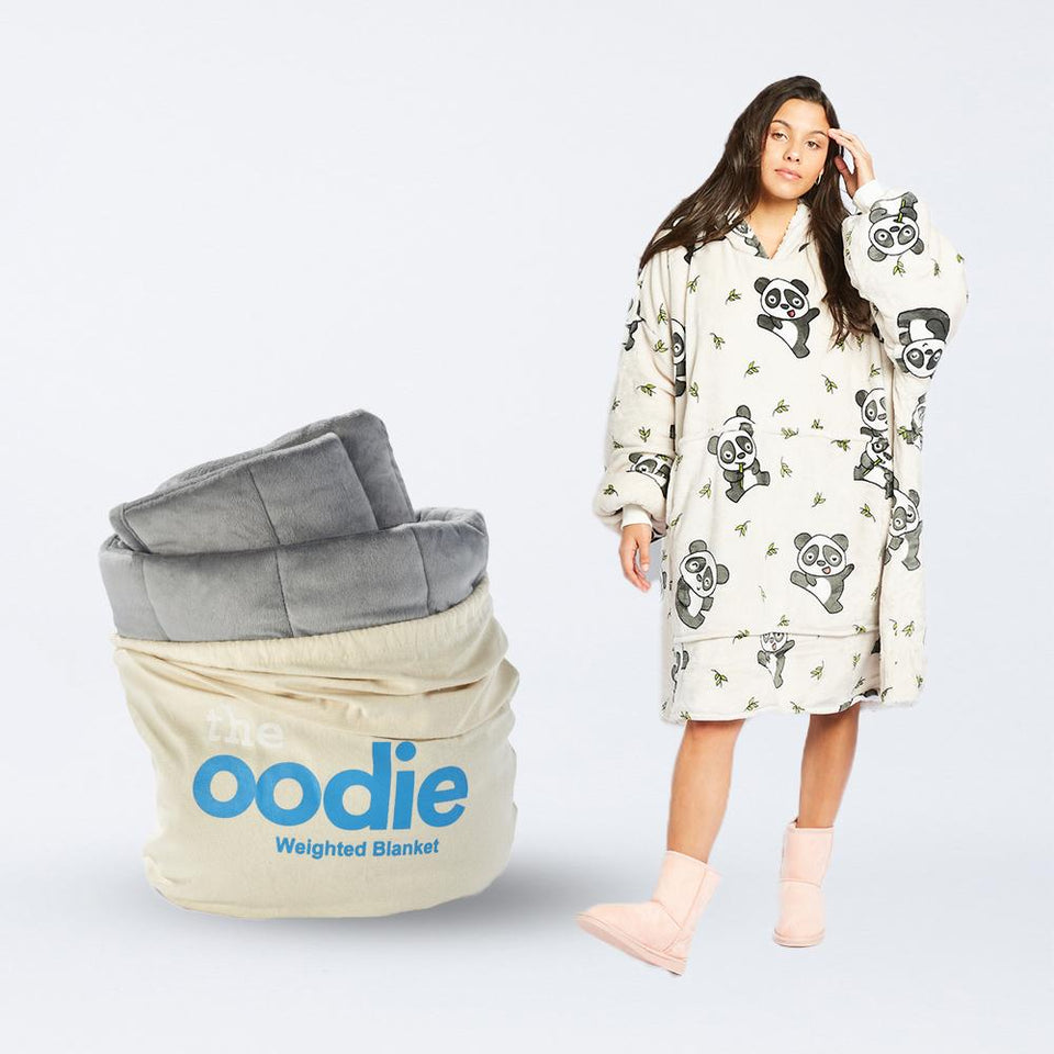 Load image into Gallery viewer, Oodie Grey Weighted Blanket Bundle