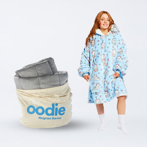 Oodie Grey Weighted Blanket Bundle