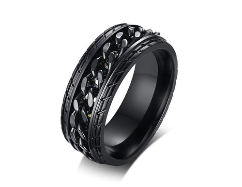 Man of Steel Spinner Ring - Lox Jewels