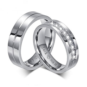 Lox Sparkle Couple Rings - Lox Jewels