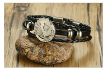 Load image into Gallery viewer, Blackjack Leather Bracelet - Lox Jewels
