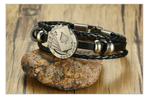 Blackjack Leather Bracelet - Lox Jewels