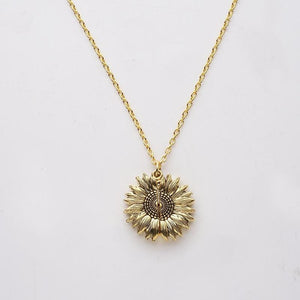You Are My Sunshine Sunflower Necklace - Lox Jewels