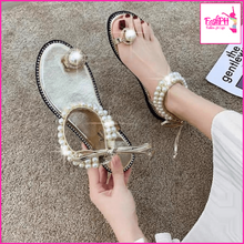 Load image into Gallery viewer, Pearl Flat Sandals