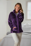 Ladies Zippered Fleece Jumper - Purple - 3 Sizes