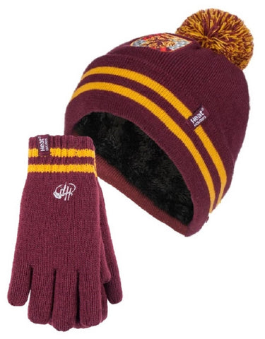 Kids HEAT HOLDERS Harry Potter Gryffindor Hat & Gloves