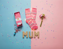"Load image into Gallery viewer, ""Love You Mum"" Heat Holders Warm Wishes Gift Boxed Socks"
