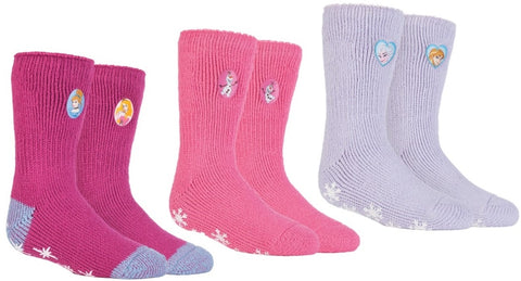 SPECIAL OFFER ... 3 Pairs Kids HEAT HOLDERS Licensed Character Slipper Socks