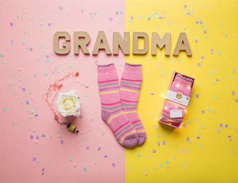 """Best Grandma"" Heat Holders Warm Wishes Gift Boxed Socks"