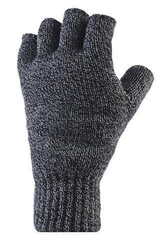 Mens HEAT HOLDERS Fingerless Gloves