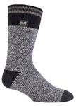 Mens HEAT HOLDERS Twist Stripe Socks
