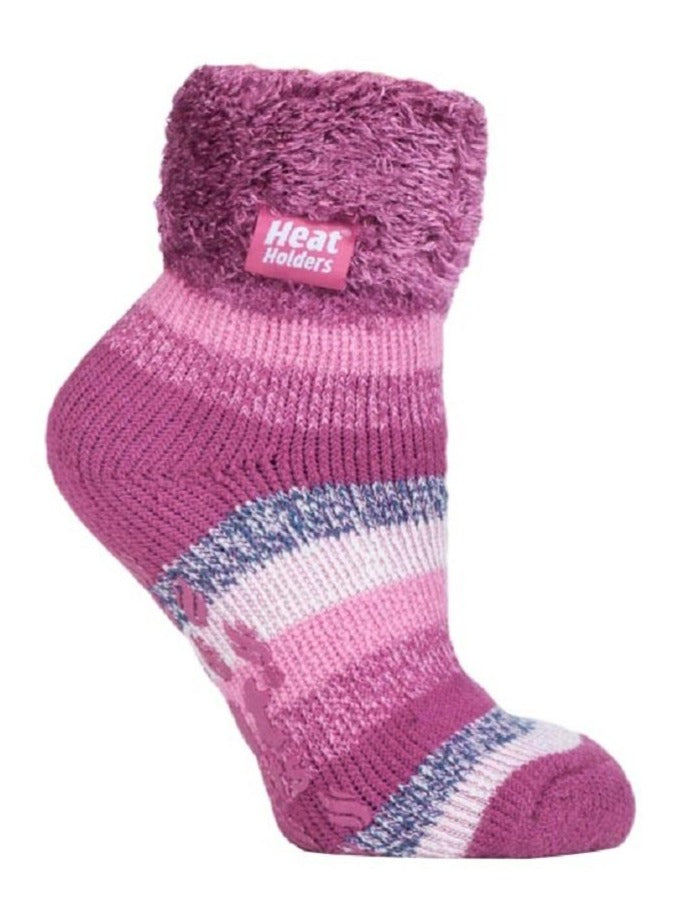 Ladies Heat Holders Lounge Socks 4-8 UK 37-42 EUR Stripe Heathfield