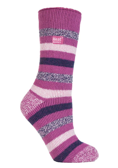 Ladies Heat Holders Fashion Twist socks 4-8 UK 37-42 EUR Appleby