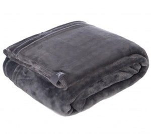 Heat Holders Snuggle Thermal Luxury Fleece Blanket / Throw 1.6 Tog ... Antique Silver