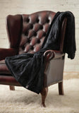 HEAT HOLDERS Luxury Fleece Blanket / Throw ... Black