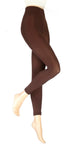 Ladies HEAT HOLDERS Thermal Footless Tights Brown