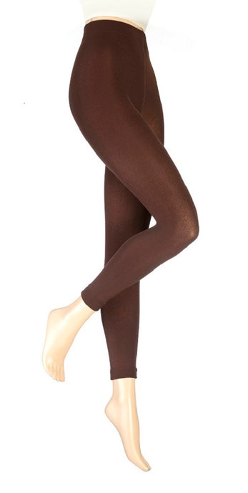 Ladies Heat Holders Thermal Leggings /  Footless Tights Brown, 4 Sizes