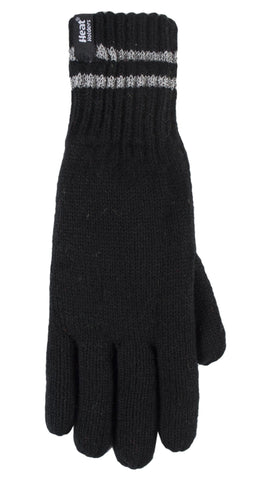 Heat Holders  Workforce Gloves - With Reflective Stripes - 2 Sizes, Black