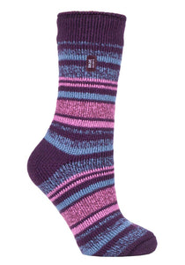 Ladies Heat Holders 4-8 UK 37-42 EUR Multi Twisted Stripe ENCHANTED