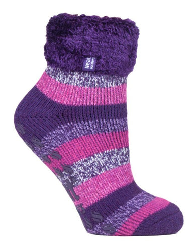 Ladies Lounge Socks 4-8 UK 37-42 EUR Stripe Josephine