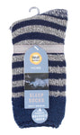 Mens Heat Holders SLEEP Socks UK 6-11, EUR 39-45 LUMI - Navy Stripe