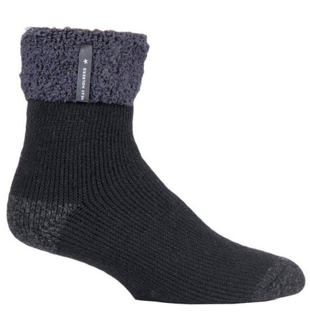 Mens Heat Holders SLEEP Socks UK 6-11, EUR 39-45 OLWEN - Black