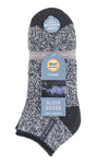 Mens Heat Holders SLEEP Socks UK 6-11, EUR 39-45 AUBIN - Charcoal Twist