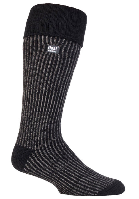 Mens Heat Holders Boot Socks - Black