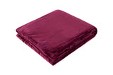 HEAT HOLDERS Luxury Fleece Blanket / Throw ... Claret