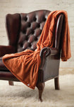 Heat Holders Snuggle Thermal Luxury Fleece Blanket / Throw 1.6 Tog ... Copper
