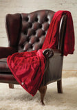 Heat Holders Snuggle Thermal Luxury Fleece Blanket / Throw 1.7 Tog ... Cranberry